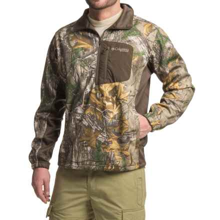 Columbia Sportswear Stealth Shot III Fleece Shirt - Zip Neck, Long Sleeve (For Men) in Realtree Xtra/Cordovan - Closeouts