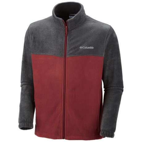 Columbia Sportswear Steens Mountain 2.0 Jacket - Fleece (For Men) in Charcoal Heather/Red Element