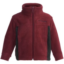 Columbia Sportswear Steens Mountain Fleece Jacket (For Infants) in Red Element/Black - Closeouts
