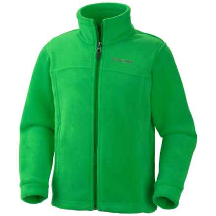Columbia Sportswear Steens Mountain II Fleece Jacket (For Little and Big Boys) in Fuse Green - Closeouts