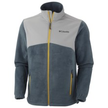 Columbia Sportswear Steens Mountain Tech Jacket - Fleece (For Men) in Mystery/Light Grey - Closeouts