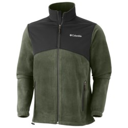 Columbia Sportswear Steens Mountain Tech Jacket - Fleece (For Men) in Collegiate Navy/Black