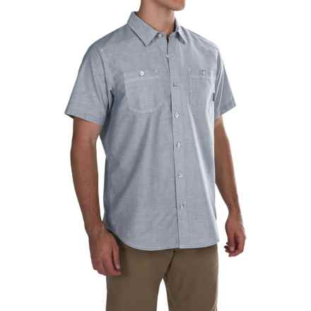 Columbia Sportswear Stirling Trail Shirt - Short Sleeve (For Men) in Night Tide - Closeouts