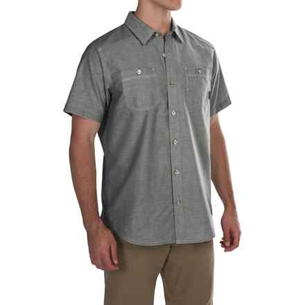 Columbia Sportswear Stirling Trail Shirt - Short Sleeve (For Men) in Shark - Closeouts