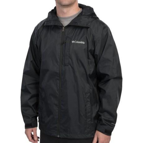 Columbia Sportswear Straight Line Rain Jacket - Omni-Shield® (For Men) in Black