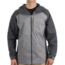 Columbia Sportswear Straight Line Rain Jacket - Omni-Shield® (For Men) in Grill/Light Grey - Closeouts