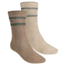 Columbia Sportswear Striped Socks - 2-Pack, Wool-Blend (For Men) in Khaki/Brown - Closeouts