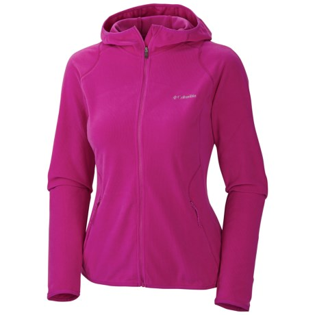 Columbia Sportswear Summit Rush Ridge Fleece Hoodie (For Women) in Groovy Pink