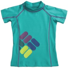 Columbia Sportswear Sun's Up Sunguard - UPF 50, Short Sleeve (For Little Girls) in Geyser - Closeouts
