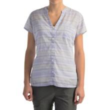 Columbia Sportswear Sun Drifter Shirt - Short Sleeve (For Women) in Pale Purple Stripe - Closeouts