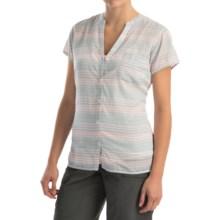 Columbia Sportswear Sun Drifter Shirt - Short Sleeve (For Women) in Stone Blue Stripe - Closeouts