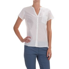 Columbia Sportswear Sun Drifter Shirt - Short Sleeve (For Women) in White Swiss Dot - Closeouts