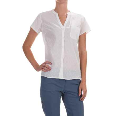 Columbia Sportswear Sun Drifter Shirt - Short Sleeve (For Women) in White Swiss Dot - Closeouts