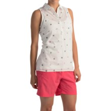 Columbia Sportswear Sun Drifter Shirt - Sleeveless (For Women) in Collegiate Navy Nautical Print - Closeouts