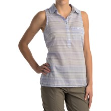 Columbia Sportswear Sun Drifter Shirt - Sleeveless (For Women) in Pale Purple Stripe - Closeouts