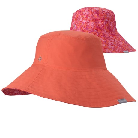 Columbia Sportswear Sun Goddess Bucket II Hat - UPF 30 (For Women) in Coral Flame/Floral Print