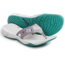 Columbia Sportswear Sunbreeze Vent Cruz Flip-Flops (For Women) in Dove/Razzle - Closeouts