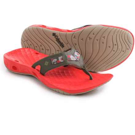 Columbia Sportswear Sunbreeze Vent Cruz Flip-Flops (For Women) in Nori/Laser Red - Closeouts