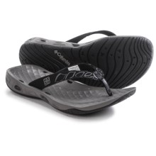 Columbia Sportswear Sunbreeze Vent Flip-Flops (For Women) in Black/Platinum - Closeouts