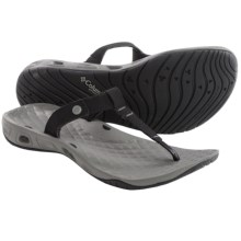 Columbia Sportswear Sunlight Vent Flip-Flops (For Women) in Black/Charcoal - Closeouts