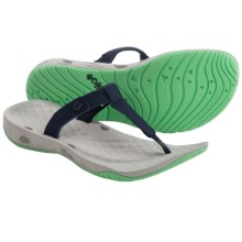 Columbia Sportswear Sunlight Vent Flip-Flops (For Women) in Collegiate Navy/Chameleon Gre - Closeouts