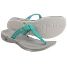 Columbia Sportswear Sunlight Vent PFG Flip-Flops (For Women) in Miami/Jade Lime - Closeouts