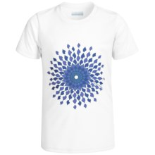 Columbia Sportswear Sunny Burst Omni-Wick® Shirt - UPF 50, Short Sleeve (For Big Girls) in White - Closeouts