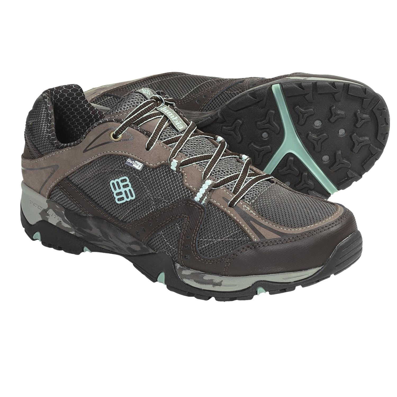 Sunrise Trail Low OutDry^ Trail Shoes - Waterproof (For Women) in Mud
