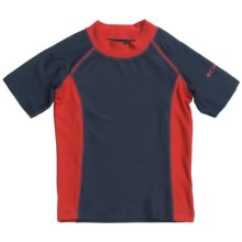Columbia Sportswear Suns Out Sunguard Shirt - UPF 50, Short Sleeve (For Little Boys) in Nocturnal - Closeouts