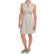 Columbia Sportswear Sunshine Bound Dress - Linen-Cotton, Sleeveless (For Women) in Fossil Cross Dye - Closeouts