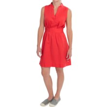 Columbia Sportswear Sunshine Bound Dress - Linen-Cotton, Sleeveless (For Women) in Red Hibiscus - Closeouts