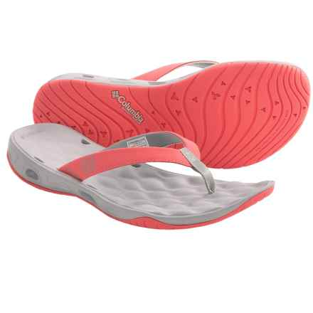 Columbia Sportswear Suntech Vent Sandals - Flip-Flops, Solid (For Women) in Hot Coral/Cool Grey - Closeouts