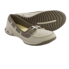 Columbia Sportswear Sunvent Boat PFG Shoes - Leather-Canvas (For Women) in Fossil/Pumice Stone - Closeouts