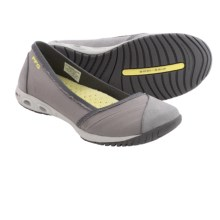 Columbia Sportswear Sunvent II Ballet Flats - Canvas-Leather, Slip-Ons (For Women) in Light Grey/Sunnyside - Closeouts