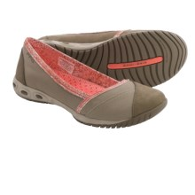 Columbia Sportswear Sunvent II Ballet Flats - Canvas-Leather, Slip-Ons (For Women) in Silver Sage/Coral Flame - Closeouts