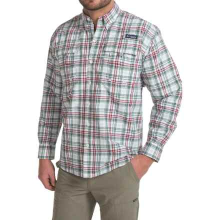 Columbia Sportswear Super Bahama Shirt - UPF 30, Long Sleeve (For Men) in Beet Multi Check - Closeouts