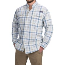Columbia Sportswear Super Bahama Shirt - UPF 30, Long Sleeve (For Men) in Blue Heron Large Plaid - Closeouts