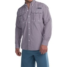 Columbia Sportswear Super Bahama Shirt - UPF 30, Long Sleeve (For Men) in Carbon Multi Gingham - Closeouts
