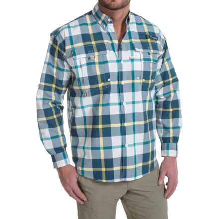 Columbia Sportswear Super Bahama Shirt - UPF 30, Long Sleeve (For Men) in Carbon Multi Plaid - Closeouts
