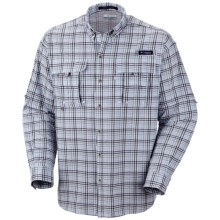 Columbia Sportswear Super Bahama Shirt - UPF 30, Long Sleeve (For Men) in Light Metal/Seersucker - Closeouts