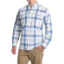 Columbia Sportswear Super Bahama Shirt - UPF 30, Long Sleeve (For Men) in Steel Large Plaid - Closeouts