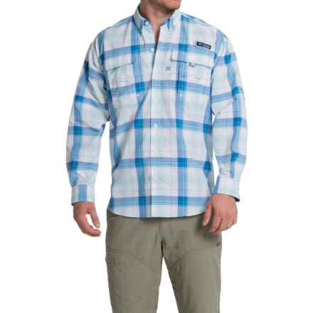 Columbia Sportswear Super Bahama Shirt - UPF 30, Long Sleeve (For Men) in Vivid Blue Large Plaid - Closeouts