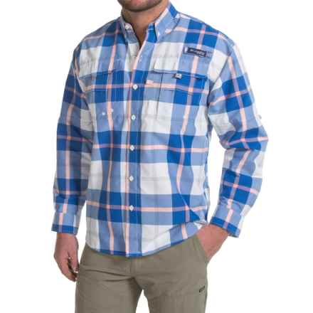 Columbia Sportswear Super Bahama Shirt - UPF 30, Long Sleeve (For Men) in Vivid Blue Multi Plaid - Closeouts