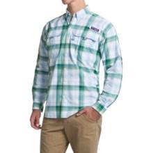 Columbia Sportswear Super Bahama Shirt - UPF 30, Long Sleeve (For Men) in Waterfall Large Plaid - Closeouts