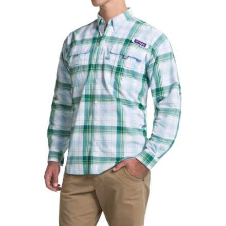 Columbia Sportswear Super Bahama Shirt - UPF 30, Long Sleeve (For Men) in Waterfall Large Plaid - Closeouts