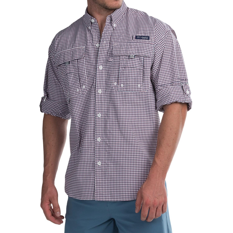 Columbia sportswear super bahama shirt for men for Men s upf long sleeve shirt