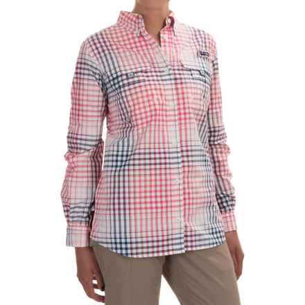 Columbia Sportswear Super Bahama Shirt - UPF 30, Roll-Up Long Sleeve (For Women) in Bright Geranium Multi Plaid - Closeouts