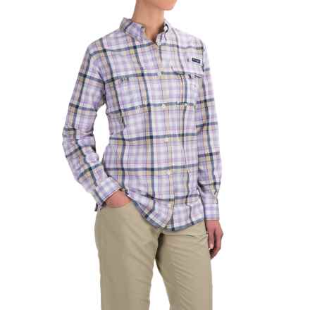 Columbia Sportswear Super Bahama Shirt - UPF 30, Roll-Up Long Sleeve (For Women) in Fossil Plaid - Closeouts