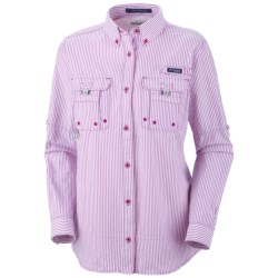 Columbia Sportswear Super Bahama Shirt - UPF 30, Roll-Up Long Sleeve (For Women) in Sorbet Plaid