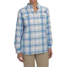 Columbia Sportswear Super Bahama Shirt - UPF 30, Roll-Up Long Sleeve (For Women) in Light Grape Plaid - Closeouts